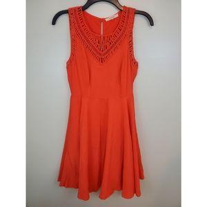 Pomelo Orange Sleeveless Dress Small